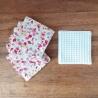 Lingettes lavables, tissu 100% coton et nid d'abeille OEKO TEX®.