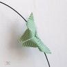 Détail : Origami petit papillon vert.