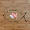 Suspension poisson réalisée en fil de fer recuit upcyclé.