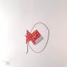 Poisson en fil de fer recuit et origami poisson.