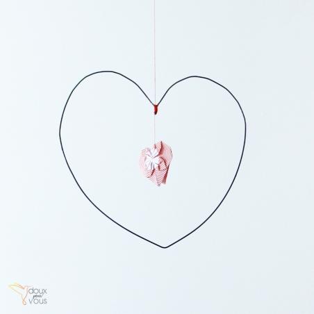 Mobile Cœur et son origami.