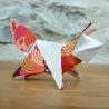 Origami : renard orange et blanc.