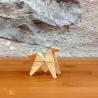 Origami petit cheval jaune.