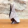 Lapin en origami.