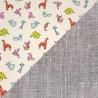 Tissus 100% Coton motifs origamis et Uni 100% Lin naturel.