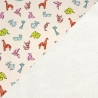 100% Coton motif origami et Micro éponge bambou.